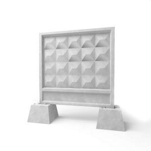 Забор железобетонный секционный (алмазная грань) на стаканах