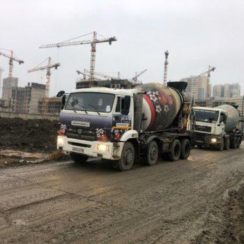 бетон для ЖК Полис на комендантском БетоНИКА