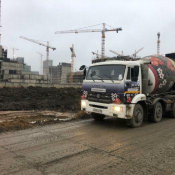 отгрузка бетона ЖК Полис на комендантском