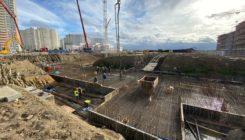 БетоНИКА заливает фундаментную плиту, 600 м3 для объекта Дальпитерстрой, застройщик ООО «Эдванс»