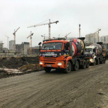 поставка бетона ЖК Полис на комендантском